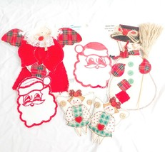 Christmas Quilted Patches Craft Decoration Angel Snowman Santa Embassy T... - $11.77