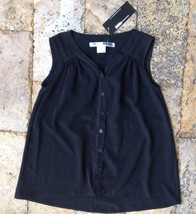 Necessary Objects Girls' Black Top, Size S, MSRP $$66 - $18.69