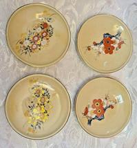 "Vintage Ceramic Butter Pats Plates - Set of 4 - 3"" Diameter"