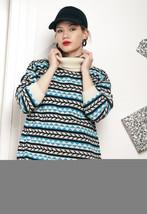 Knit turtleneck sweater - 80s vintage jumper - $40.19