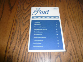 1976 Ford Owner's Manual - Vintage - Glove Box - $12.59