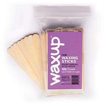 waxup Wax Applicator Wooden Sticks, Assorted Waxing Spatulas for Body, Face, Ear image 3
