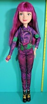 "Disney Descendants Isle Of The Lost Mal Purple Hair 28"" Tall Doll Clothe... - $49.95"