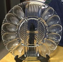 Vtg Clear Glass Egg Relish Plate 11 Inches - $18.69