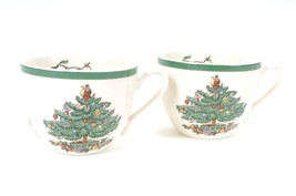 Spode Set of 2 Tea Cups Christmas Tree Pattern Holiday Decor New 19999 - $376,38 MXN