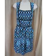 "Cynthia Steffe Dress Sz 6 Blue Multi ""Strawberry"" Silk Sleeveless Cockta... - $191.46"