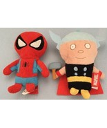 2011 Marvel Heroes Thor, Spiderman & Batman Plush Beanie Dolls (3) - $18.80