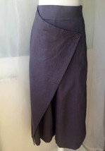 Summer Khaki Linen Pants Wide Leg LINEN Cotton PANTS Women Wrap Palazzo Pants image 8