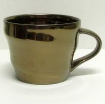 STARBUCKS COFFEE COMPANY ORIGINAL 2013 METALLIC GOLD 12 Oz COFFEE CUP/MUG  - $28.63