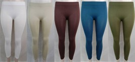 New Women's Solid Colored Seamless Leggings Yoga Gym Dance Green,Brown,T... - $9.99