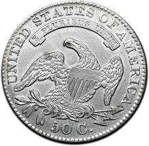 1830 Capped Bust Silver Half Dollar 50¢ Coin Lot# A 393 image 2