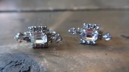 Vintage Rhinestone Screwback Earrings 3cm - $12.86