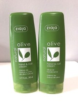 Lot of 2- Ziaja- Olive Natural Hand  & Nail Cream- 2.8 fl oz - $9.49