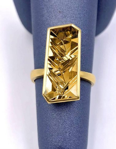 925 Sterling Silver Natural Fine Quality Citrine Glass Field And Cz Gemstone Han