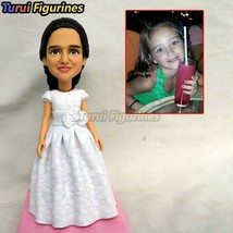 Turui Figurines polymer clay doll kids figurine from photo real face birthday gi - $78.00