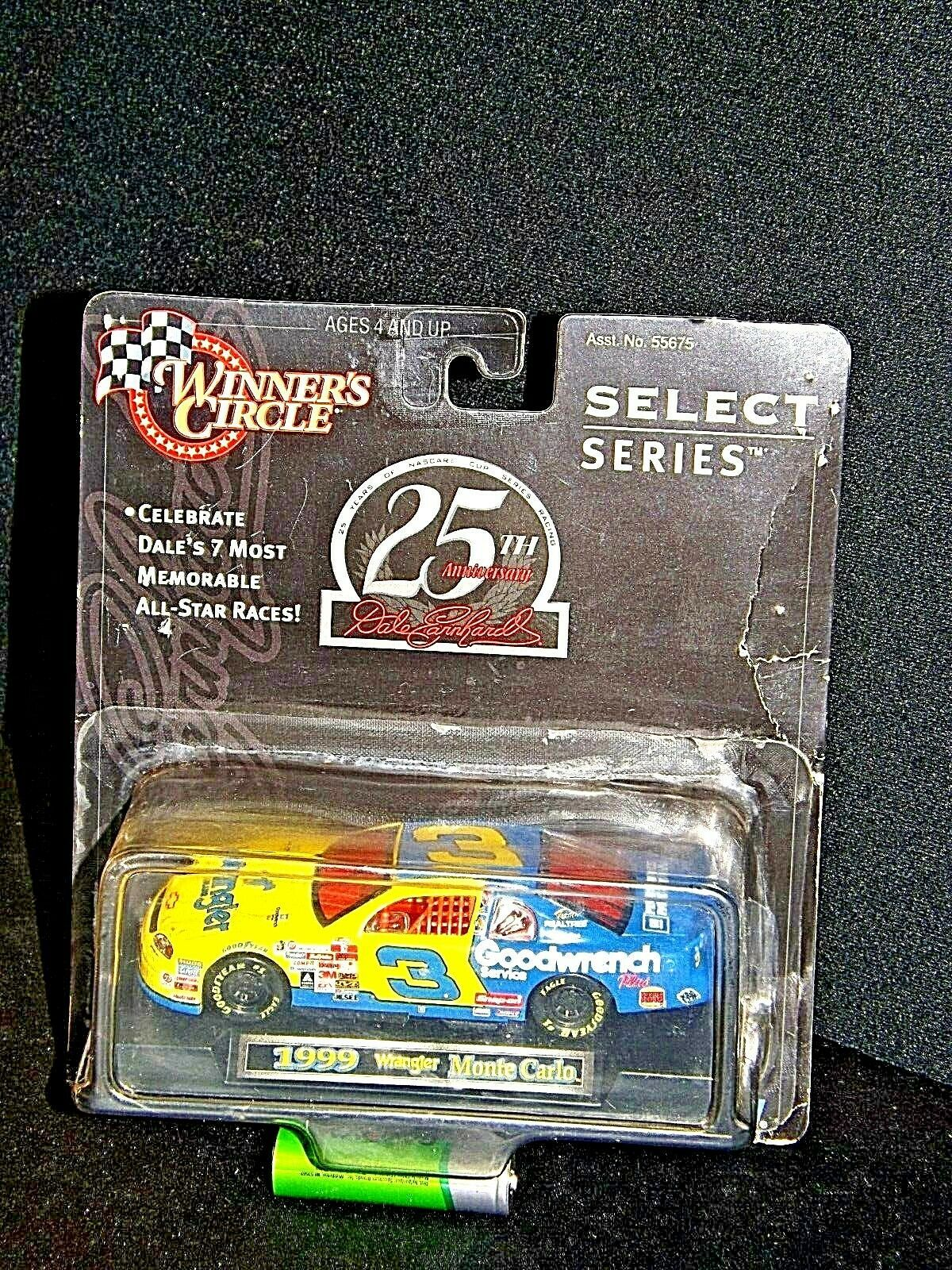 Winner's Circle SELECT Series #3 Dale Earnhardt blue and yellow #3 Wrangler,Good