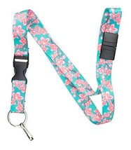 Limeloot Teal Cherry Blossom Premium Lanyard with Breakaway, Release Buc... - $9.95
