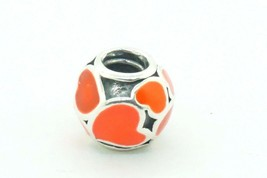 Authentic Pandora Charm Red Love Anniversary Heart 790436ER Charm #21086B - $21.78