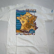 Vintage 1993  Tour de France T Shirt NEW Dead Stock NWT Map 2 Sided Large - $37.99