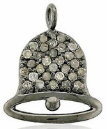 Bell 92.50% Silver Vintage Inspired 0.65Ct. Rose Cut Diamond Antique Pen... - $138.46