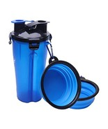 Daily buy 2 in 1 Dog Water Bottle Food Container Travel 2 Bowls Collapsi... - $12.85