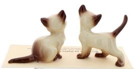 Hagen-Renaker Miniature Cat Figurine Siamese Mama and Papa Chocolate Point image 2