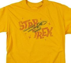 Star Trek distressed t-shirt U.S.S Enterprise Retro sci-fi graphic tee CBS1312 image 3
