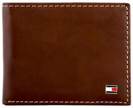 Tommy Hilfiger Men's Logan Bifold Zipper Coin Credit Card ID Wallet 31TL220036 image 1