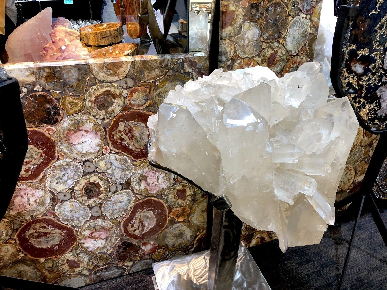 CRYSTAL QUARTZ w/ STAND MINERAL ROCK INCREDIBLE FORMATIONS Sticker $45,000 image 2