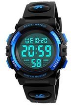 Kid Watch 50M Waterproof Sport LED Alarm Stopwatch Digital Child Wristwatch for