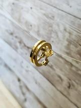 Vintage Clip On Earrings Monet Gold Tone Simple Hoop - $13.99