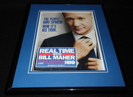Real Time with Bill Maher 2013 Framed 11x14 ORIGINAL Vintage Advertiseme... - $22.55