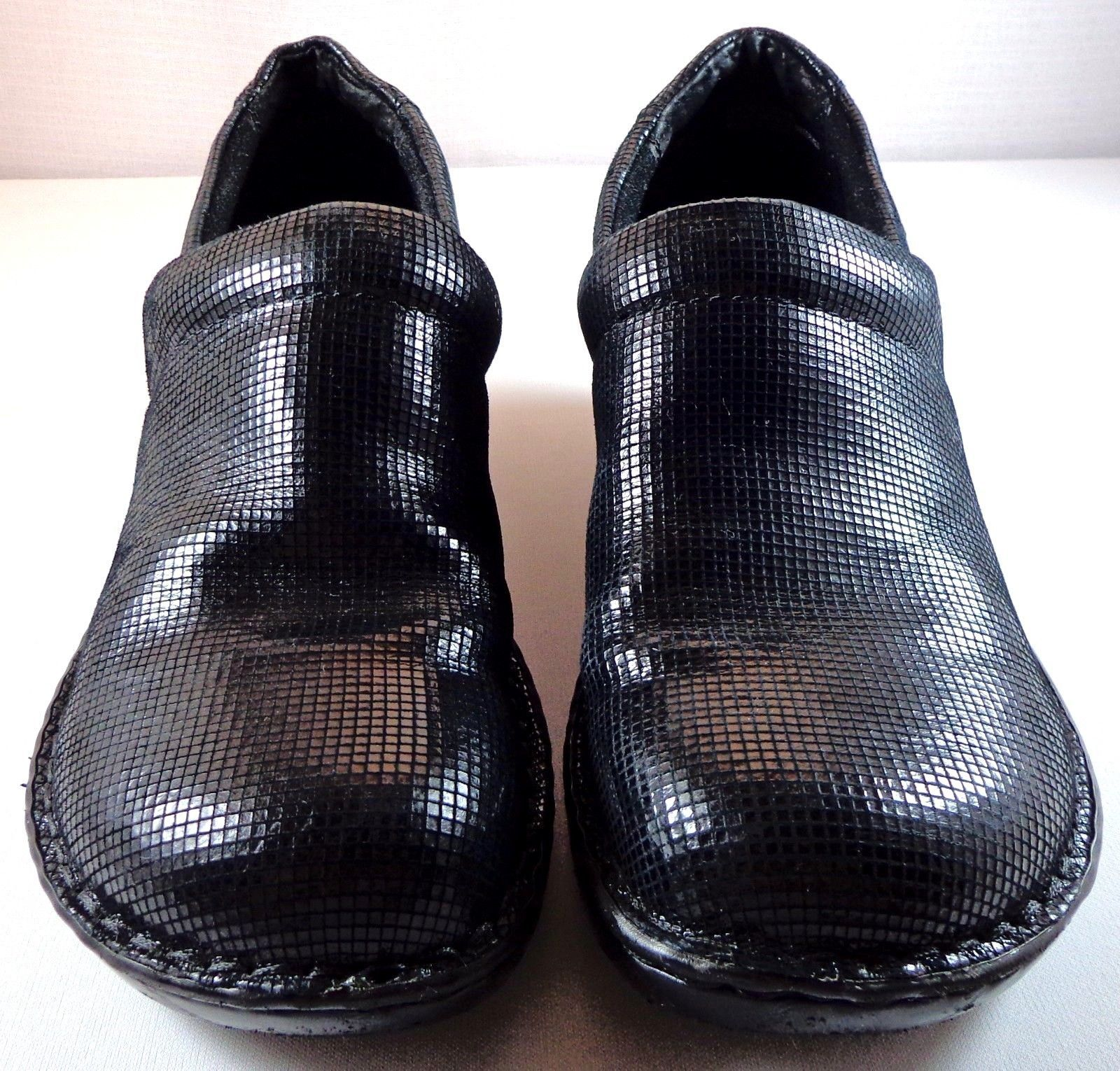 d6227b3708e3 S l1600. S l1600. Previous. BOC Born Concept Black Leather Peggy Clogs  Womens Size 11   43 Shoes