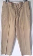 Men's Izod 36x32 Pants Chino Flat Front 2ply Metrix Fit Beige Chesapeake... - $13.30