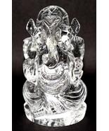 Ganesha Idol In Pure Sphatik / Lord Ganesha In Quartz Crystal - 555 gm - $675.00