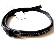 L-2730140 New Saint Laurent Black Chain Leather Belt Size 70 Fits Waist 26 - $259.99