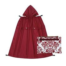 Naforye All-Seasons Rain Cover with Detachable Zippered Pouch (Burgundy)
