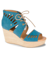 CAT-Caterpillar Women's Alma Legion Blue Platform Wedge Sandal, Size 8 - $39.59