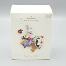 2008 Hallmark Keepsake Ornament Santa's Sweet Ride Series #2 Airplane Pl... - $13.95