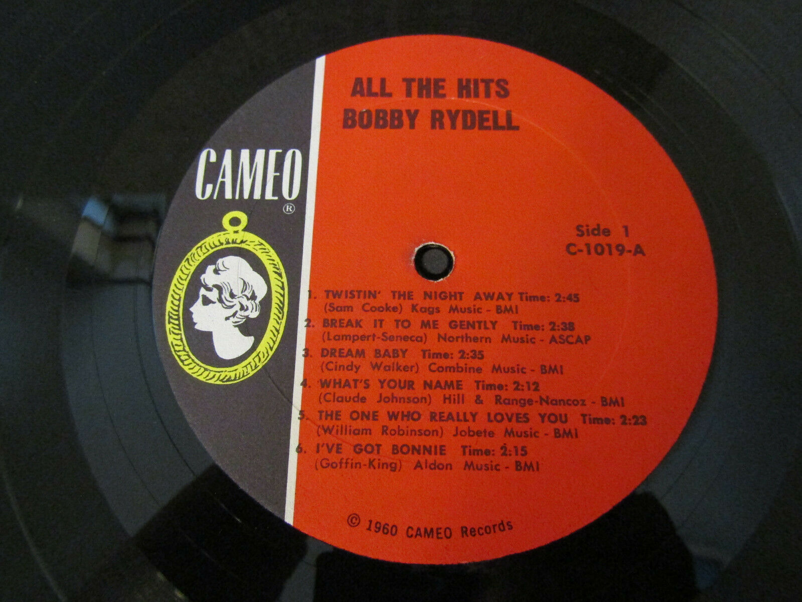 Bobby Rydell All The Hits Cameo C1019 Mono Vinyl Record LP Album image 5