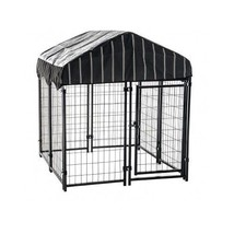Dog Kennel House Cage Crate Fence Matal Outdoor... - $201.95