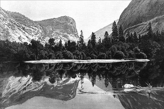 Mirror Lake, Yosemite Valley by Samuel Valentine Hunt - Art Print - $19.99 - $179.99