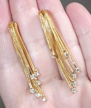 STUNNING  HATTIE CARNEGIE 14K /14K GF WATER FALL STUD TASSEL EARRINGS - $173.25