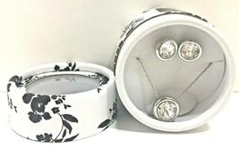 NEW White House Black Market Stud Earrings Necklace Swarovski Crystal Silver - $28.04
