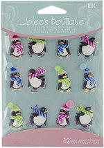 Jolee's Boutique Holiday Penguin Cabochons Stickers, Set of 12