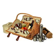 Picnic at Ascot Yorkshire Picnic Basket for 4 with Coffee Service and Bl... - $212.31