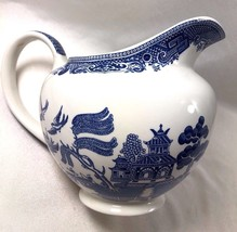 "VTG Blue Willow Porcelain Ware Made in England Pitcher 5.75"" tall - $41.18"