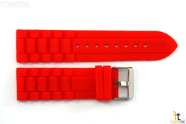 24mm Fits Fossil Red Silicon Rubber Watch BAND Strap - $11.01