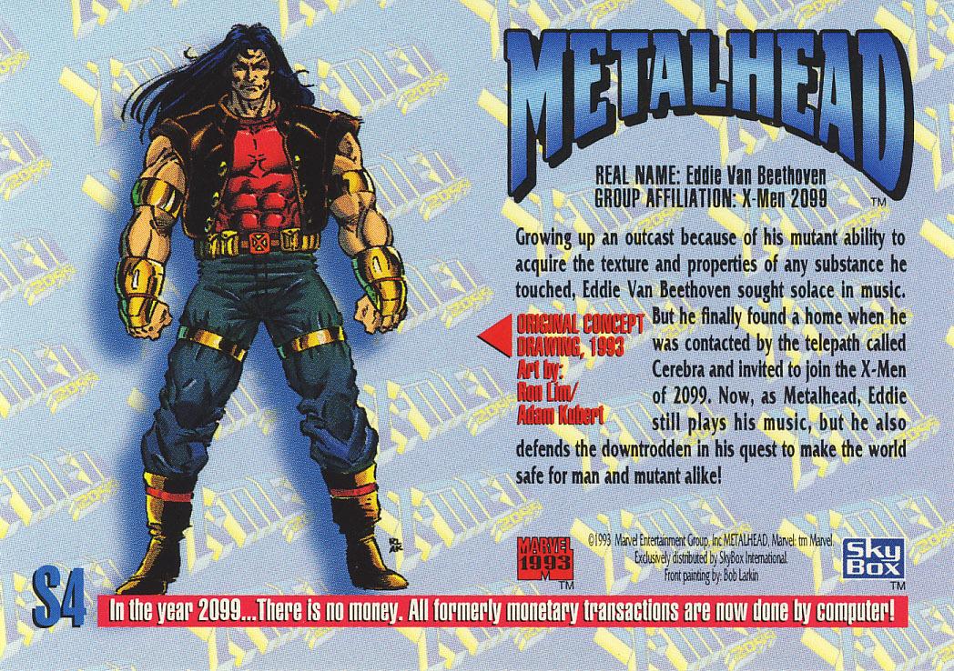Marvel Masterpieces 1993 Spectra Card S4 - Metalhead