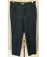 LEE Women's Relaxed STRAIGHT LEG Blue Jeans Size 16 Long (34 x 33)  - $13.95